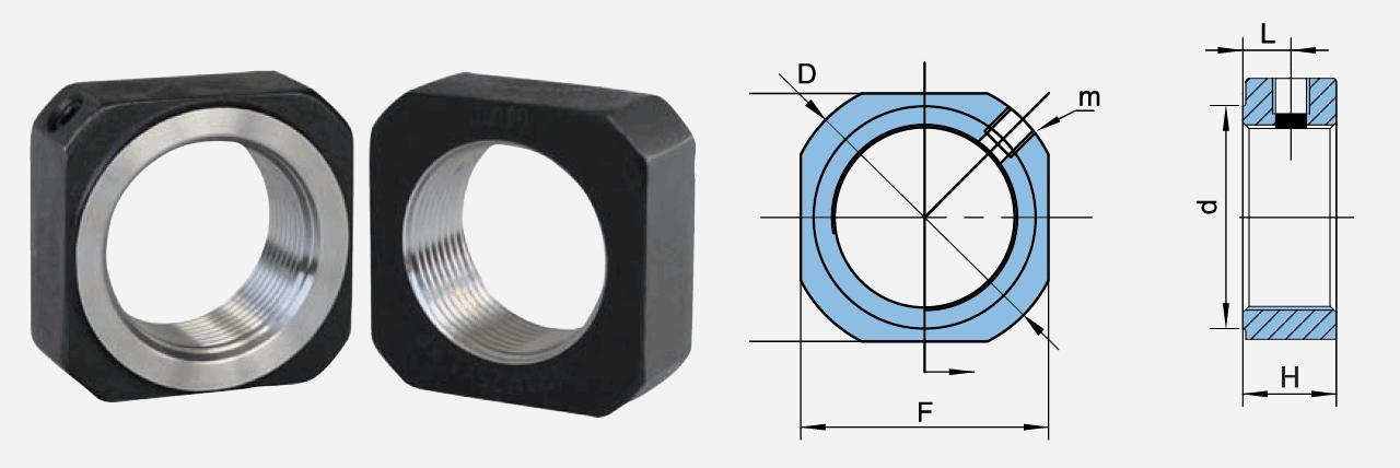 DN方形锁紧螺母尺寸