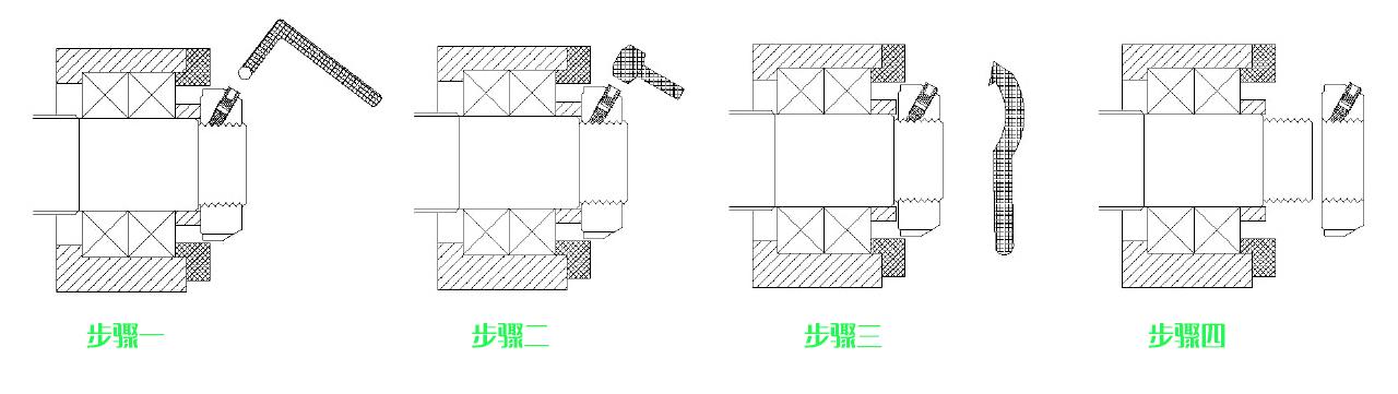 SF-SR螺母拆卸方法