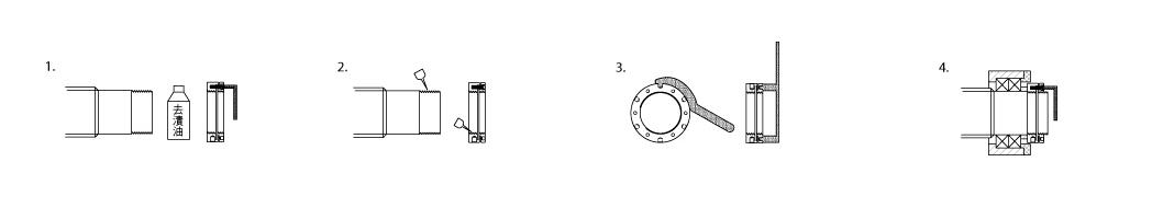 SK系列螺母安装示意图