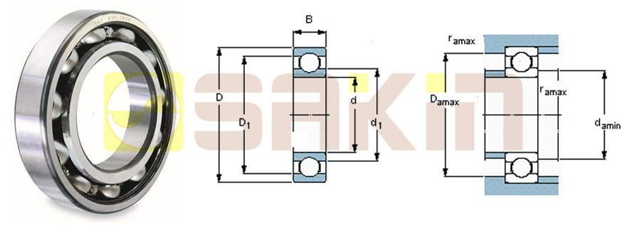 SKF开放型单列深沟球轴承