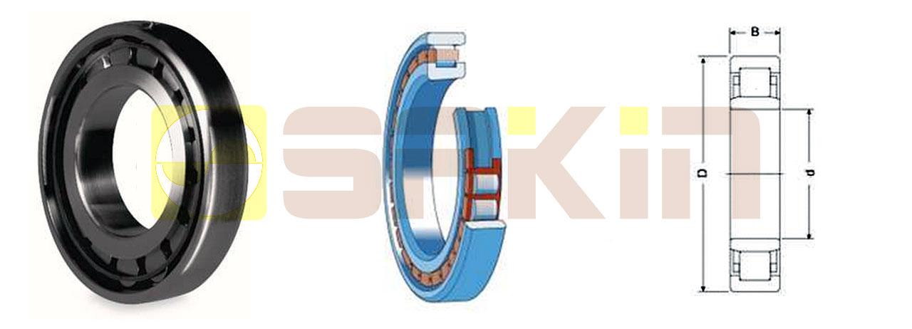 SKF单列圆柱滚子轴承 NU系列