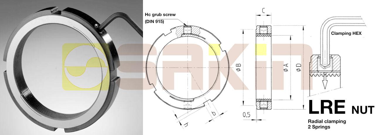 LRE弹簧锁紧螺母 可调节螺母