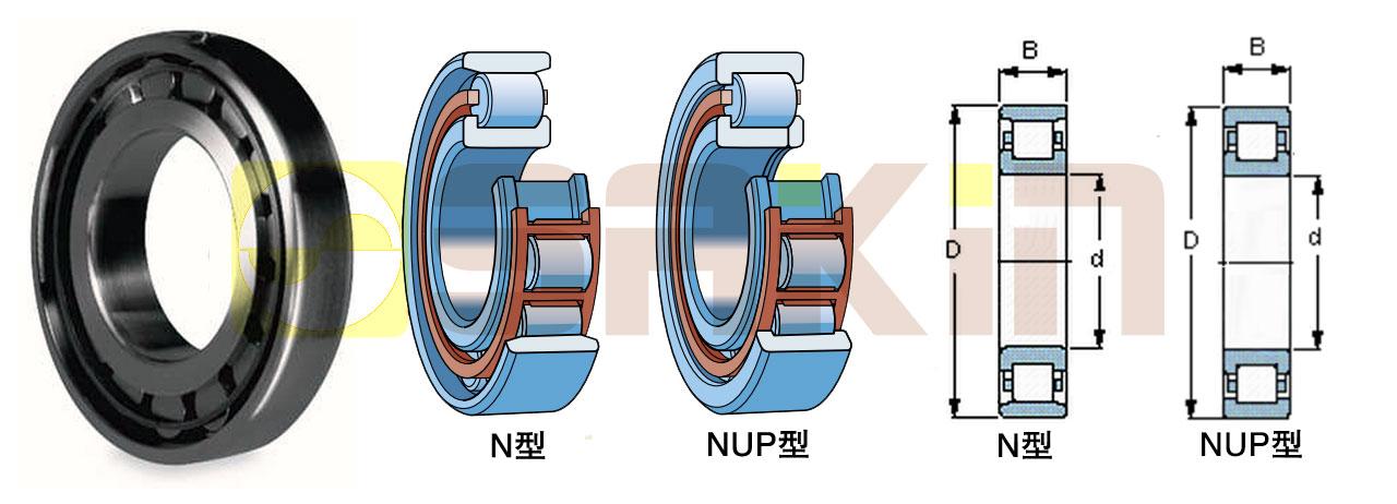 SKF-N/NUP型单列圆柱滚子轴承