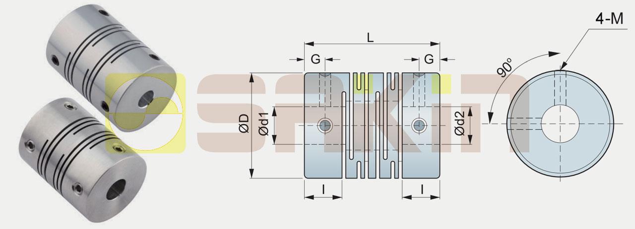 SCT/SCTS定位螺丝固定型切缝式联轴器