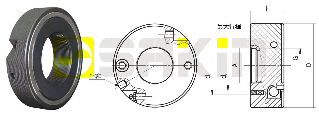 SKY油或油脂驅動型液壓螺母