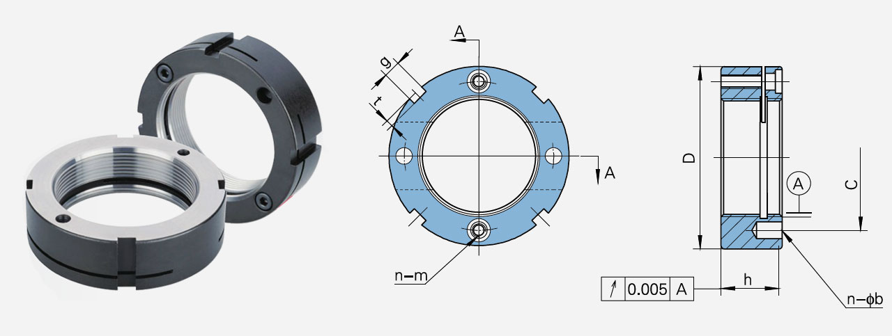 KC型开槽式精密锁紧螺母
